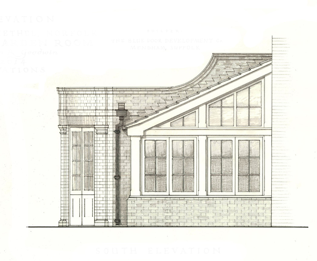 Garden room elevation drawing